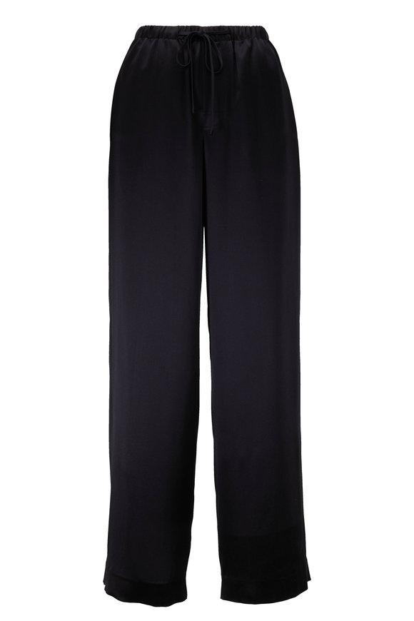 Vince Black Satin Pajama Pant