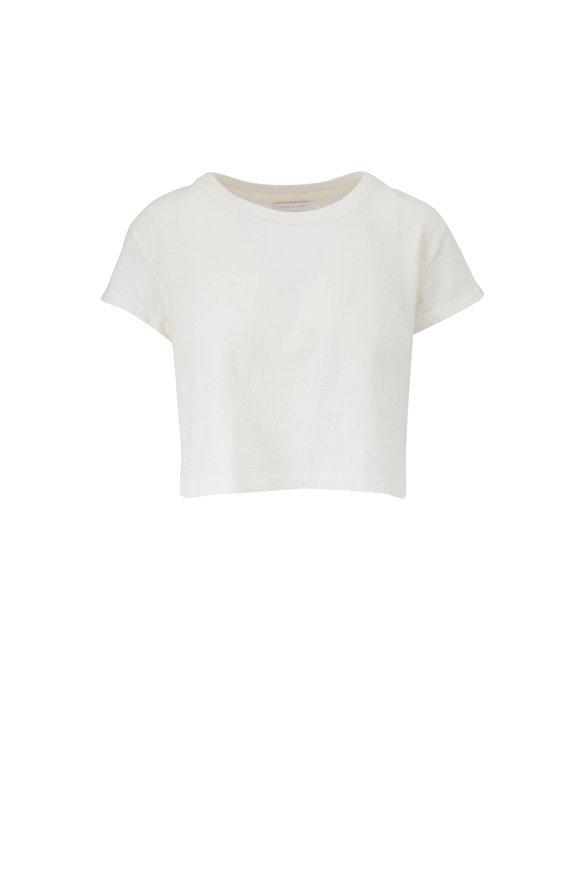 John Elliott Chalk Jersey Crop T-Shirt