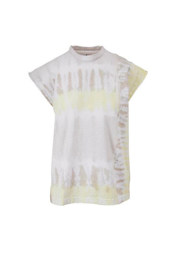 John Elliott Agate Geode Reconstructed Tie Dye Muscle T-Shirt
