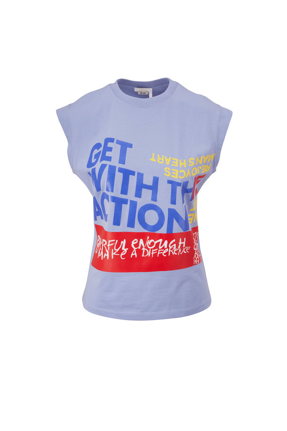 Chloé Tender Blue Make A Difference Muscle T-Shirt