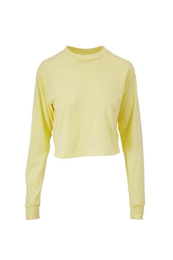 John Elliott Toxic Jersey Long Sleeve Crop T-Shirt