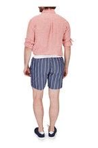 Brunello Cucinelli - Blue & White Stripe Swim Trunks