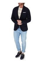 Brunello Cucinelli - Cream & Gray Stripe Cotton Crewneck Pullover