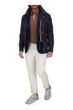 Brunello Cucinelli - Brown Linen & Cotton Short Sleeve Polo