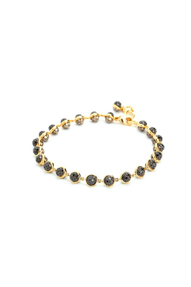 18K Yellow Gold Black & Champagne Diamond Bracelet