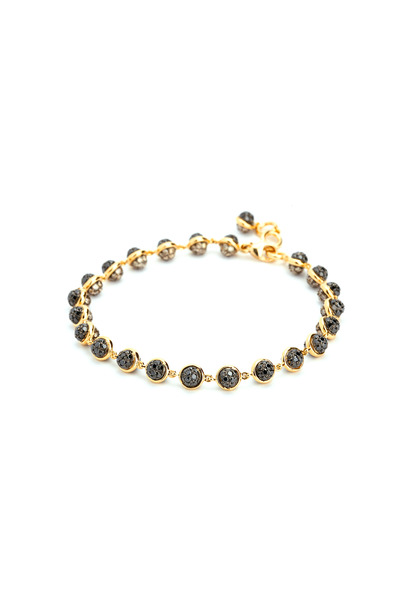 Syna - 18K Yellow Gold Black & Champagne Diamond Bracelet