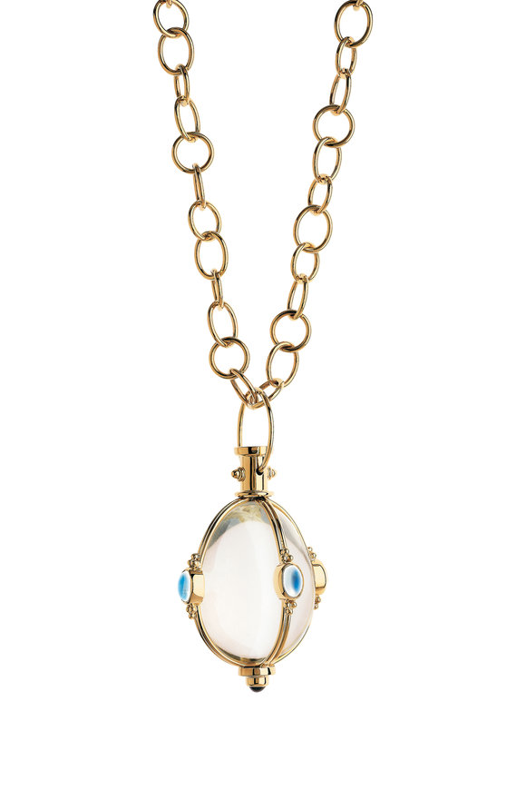 Temple St. Clair 18K Gold Crystal, Moonstone & Tanzanite Amulet
