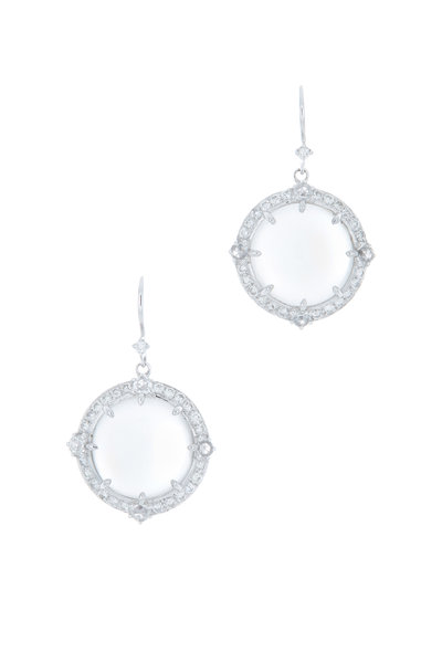 Nam Cho - Blue Moonstone & Diamond Earrings