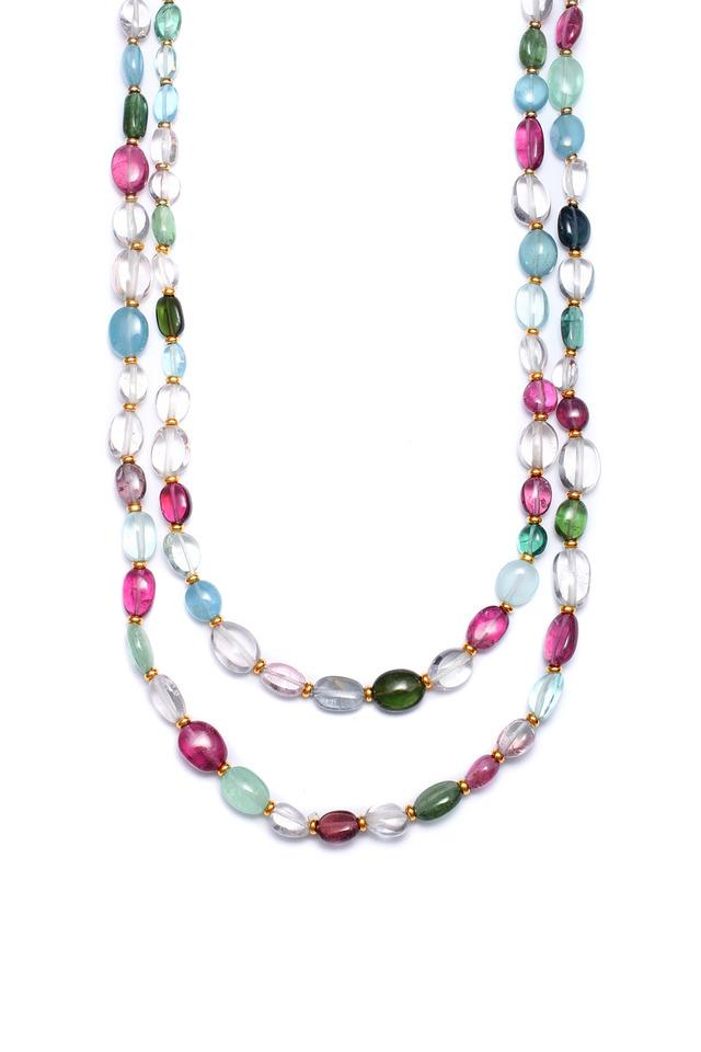 Semi Precious Mix Stone Long Necklace