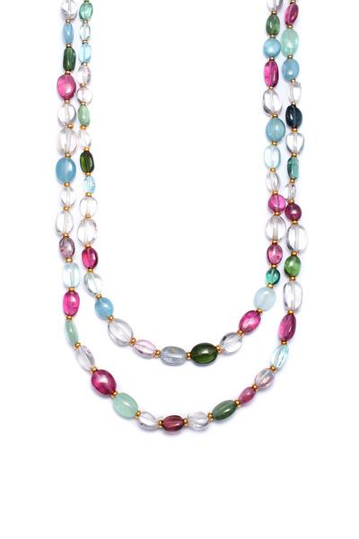 Syna - Semi Precious Mix Stone Long Necklace