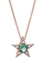Selim Mouzannar - 18K Pink Gold Diamond & Tourmaline Star Necklace