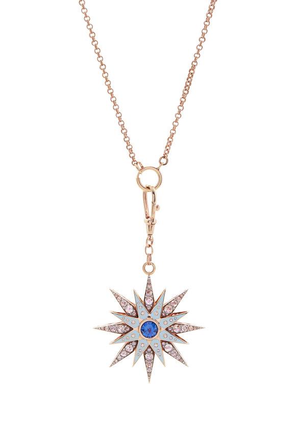 Selim Mouzannar Pink Sapphire & Tourmaline Starburst Pendant