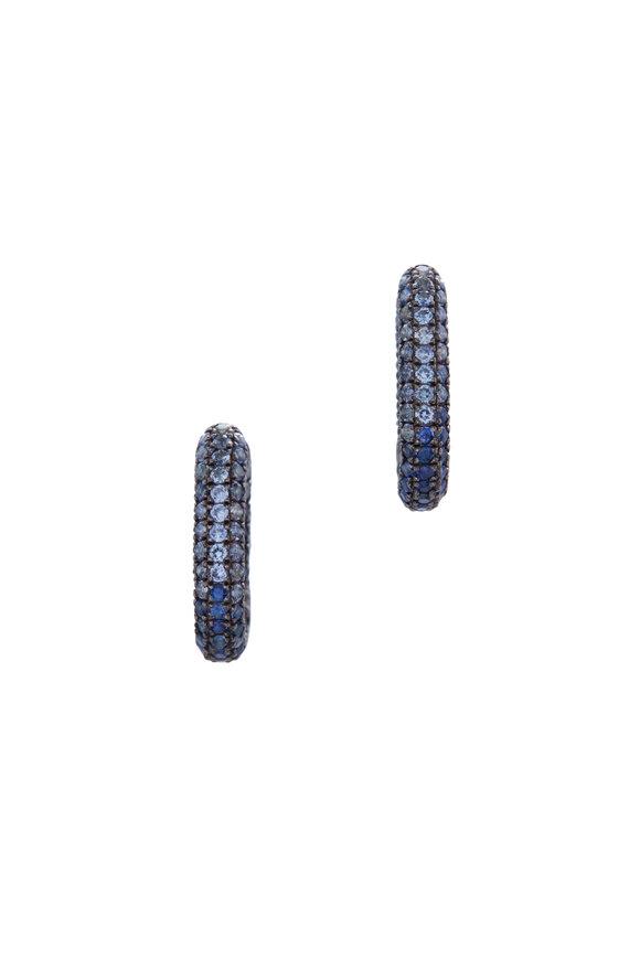 Selim Mouzannar Sterling Silver Sapphire Link Earrings