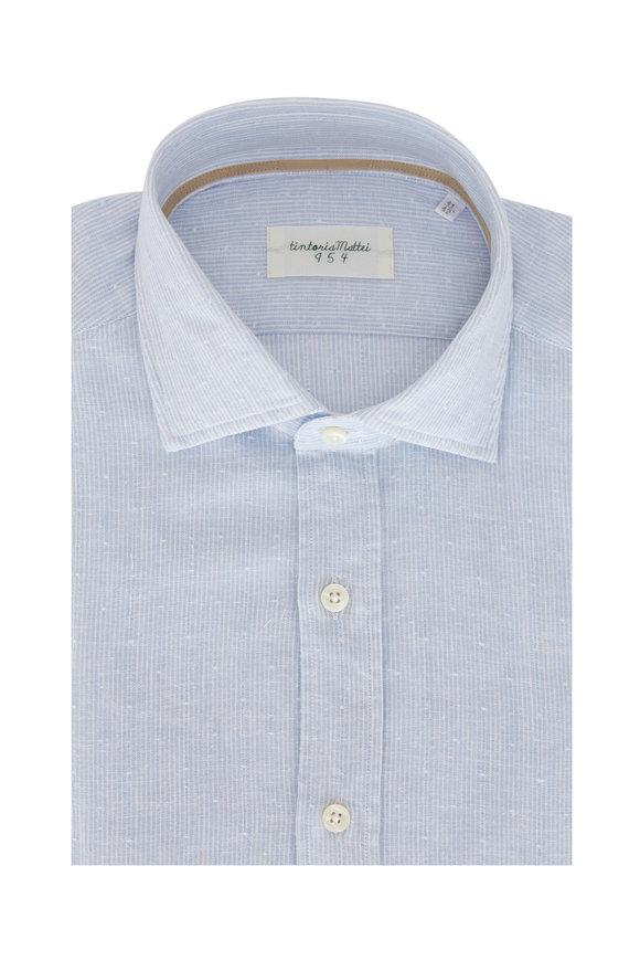 Tintoria Blue & White Pindot Sport Shirt