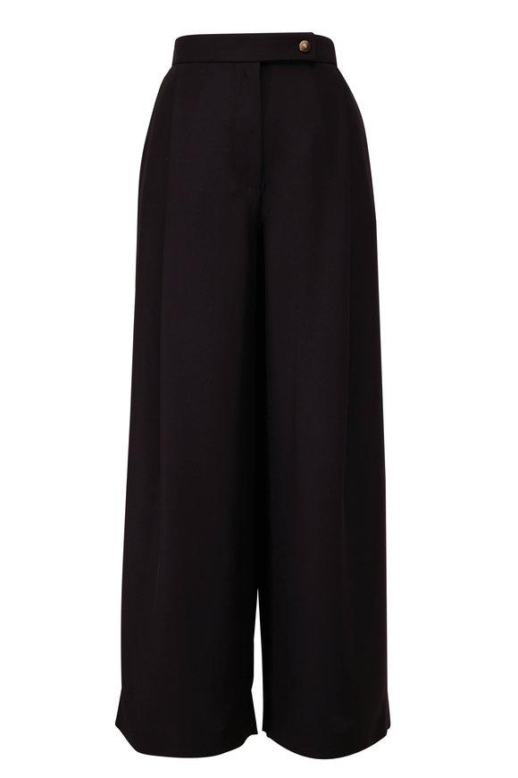 Giorgio Armani Black Single Pleat Crop Pant