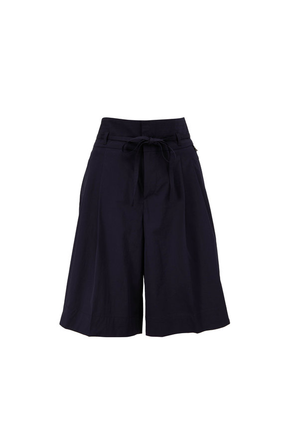 Bogner Hollie Fashion Navy Superfine Cotton Shorts