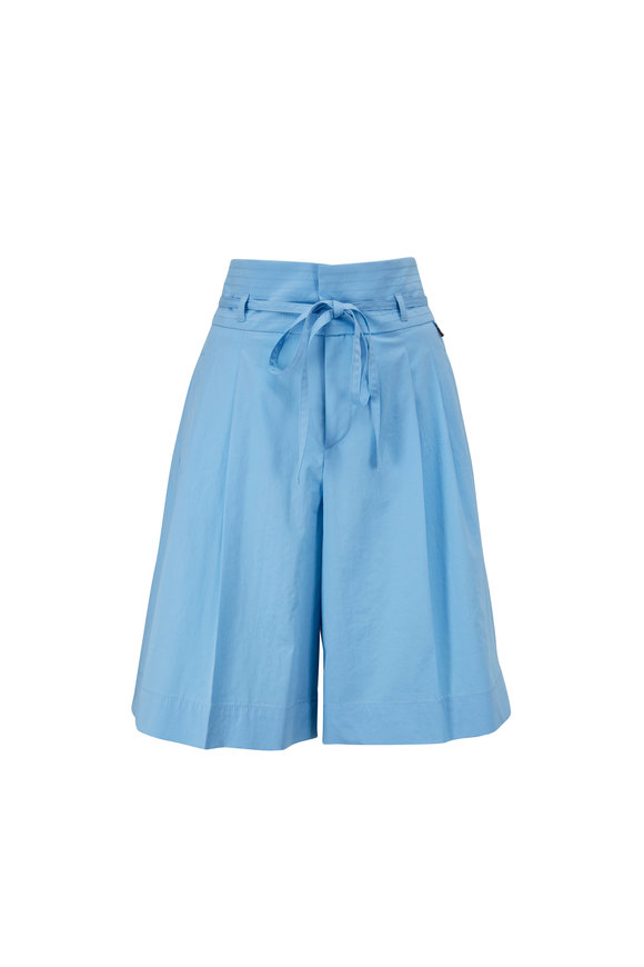 Bogner Hollie Light Blue Superfine Cotton Shorts