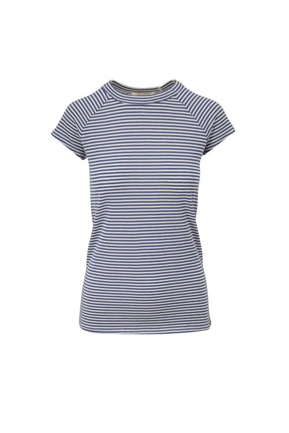 Nili Lotan Brady Navy & White Stripe T-Shirt