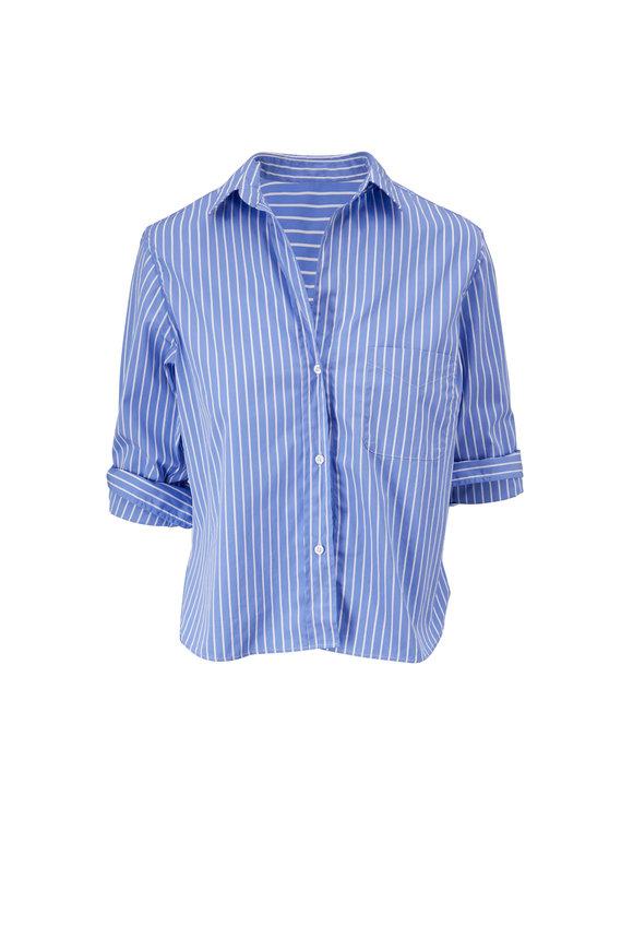 Frank & Eileen Silvio Superluxe Blue & White Stripe Shirt