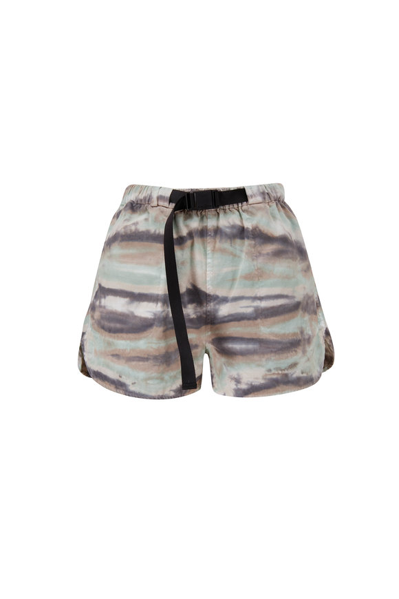 John Elliott Summit Camouflage Belted Shorts