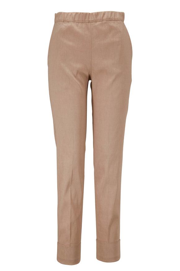 D.Exterior Khaki Pull On Cuffed Pant