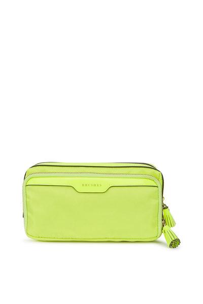 Anya Hindmarch - Neon Yellow Nylon Small Make-Up Case