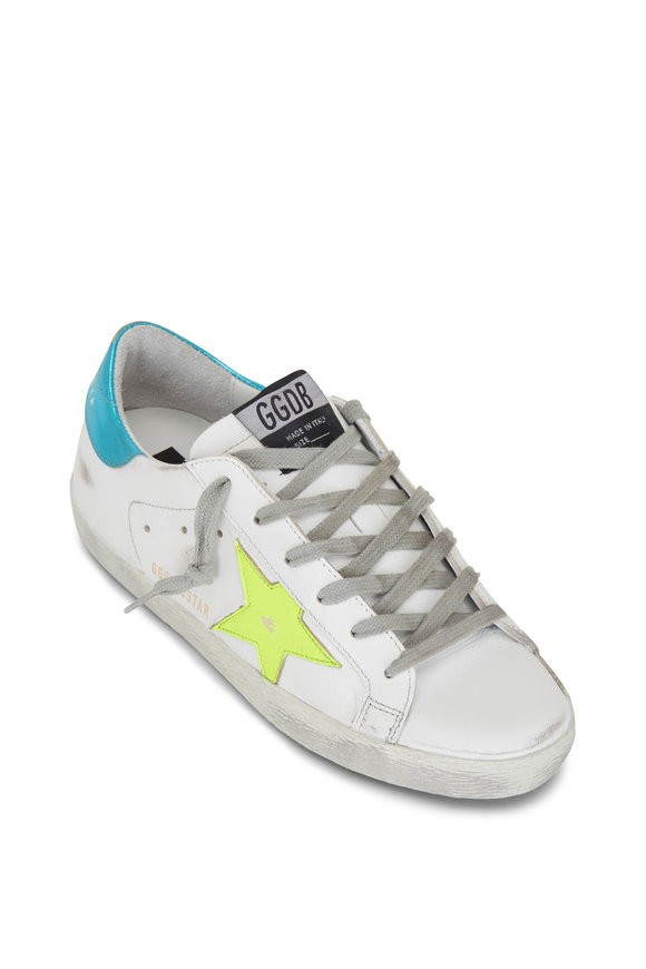 Golden Goose White Leather & Yellow Star Low-Top Sneaker