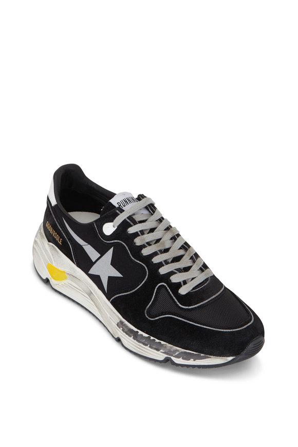 Golden Goose Running Soles Black Suede Sneaker
