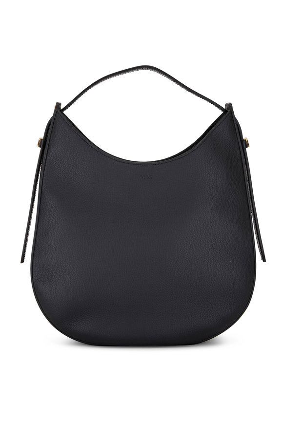 Tod's Oboe Black Leather Medium Hobo
