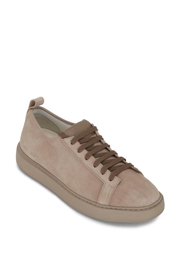 Santoni Barit Taupe Suede Sneaker