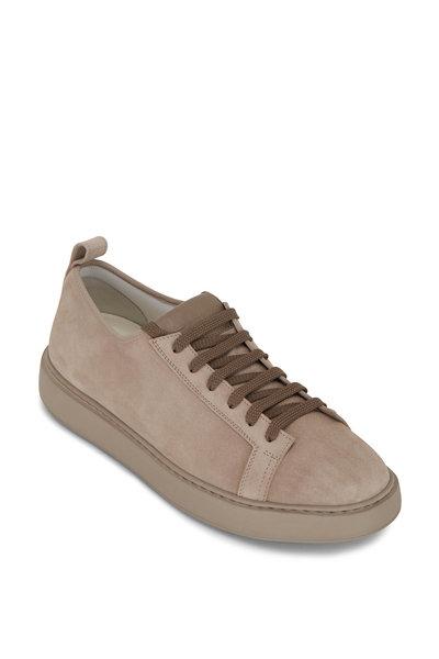 Santoni - Barit Taupe Suede Sneaker