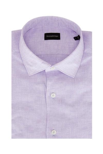 Ermenegildo Zegna - Solid Lavender Linen Sport Shirt