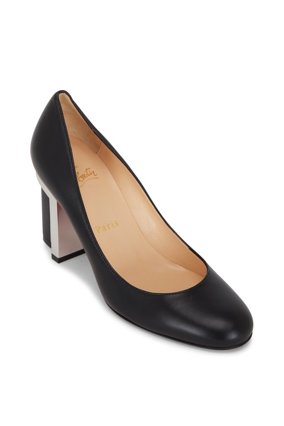 Christian Louboutin Geleutourni Black Levitating Heel Pump, 85mm
