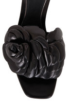 Valentino Garavani - Atelier 03 Black Leather Rose Edition Slide, 55mm