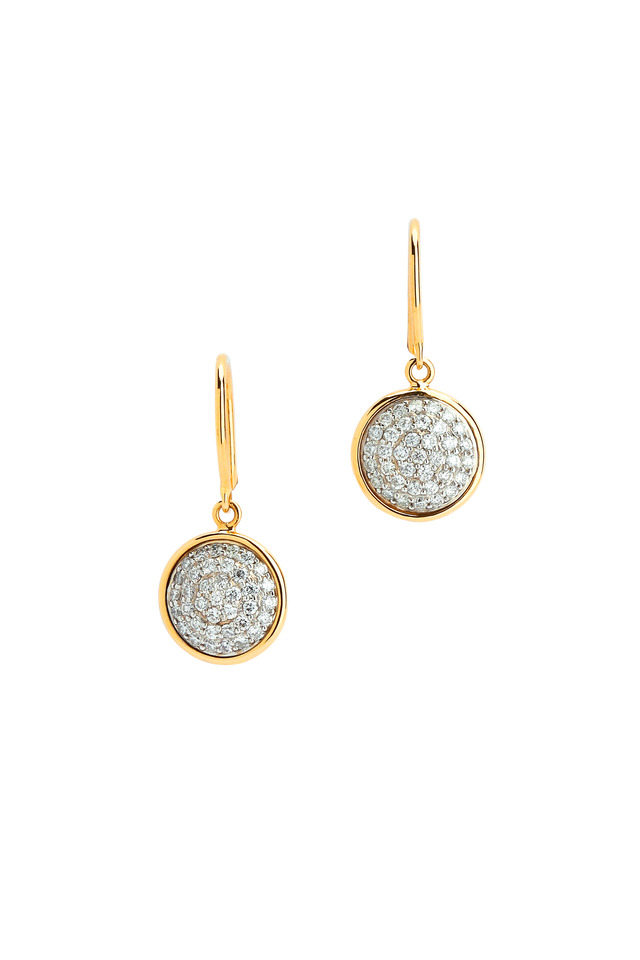 Chakra Yellow Gold Diamond Earrings