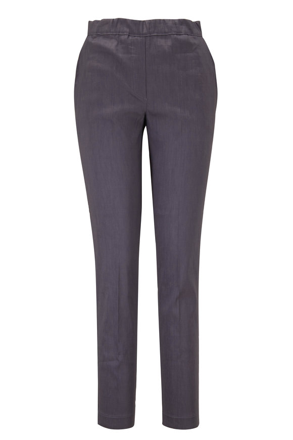 D.Exterior Graphite Stretch Linen Pull-On Pant