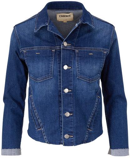 L'Agence Janelle Laredo Slim Fit Denim Jacket