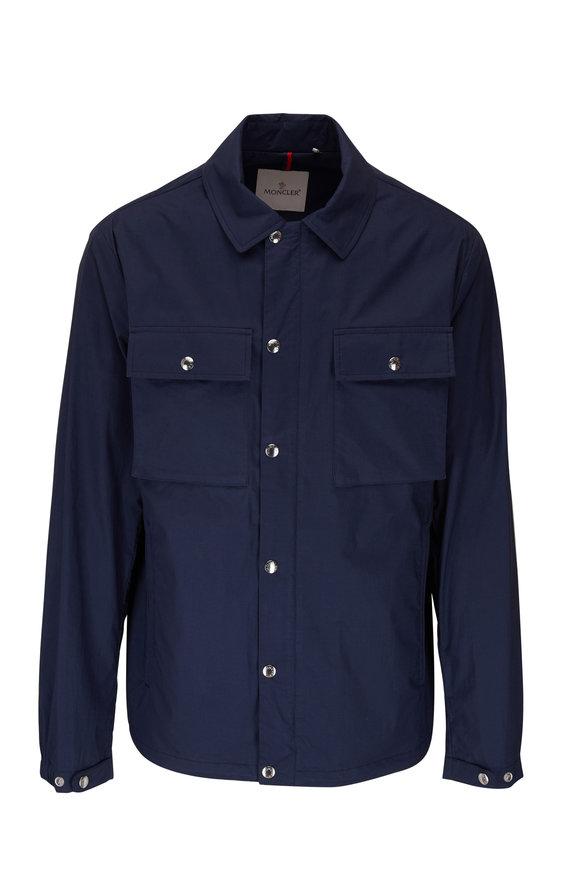 Moncler Navy Cotton Shirt Jacket