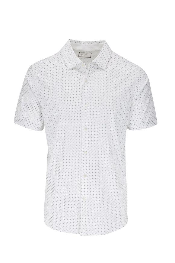 Raffi  White Diamond Print Short Sleeve Shirt