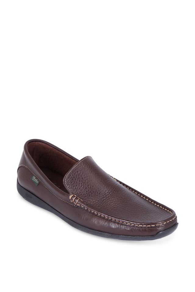 Anvers Brown Grained Leather Loafer