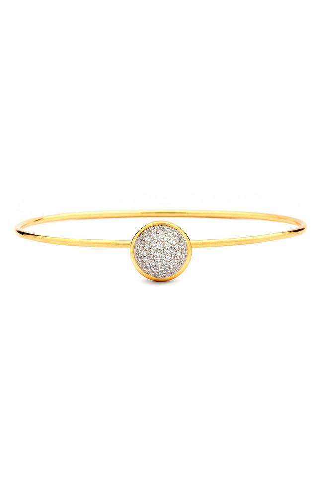 Baubles Yellow Gold White Diamond Stack Bracelet
