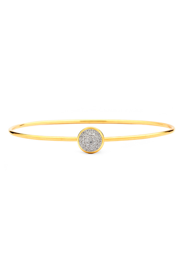 Baubles Yellow Gold White Diamond Stack Bracelet