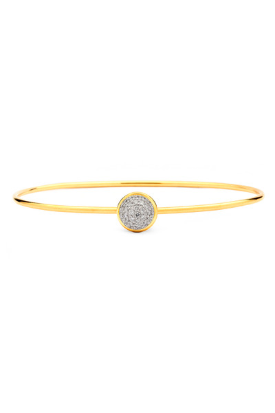 Syna - Baubles Yellow Gold White Diamond Stack Bracelet