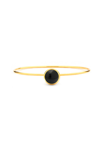 Syna - Black Onyx Baubles Stacking Bracelet