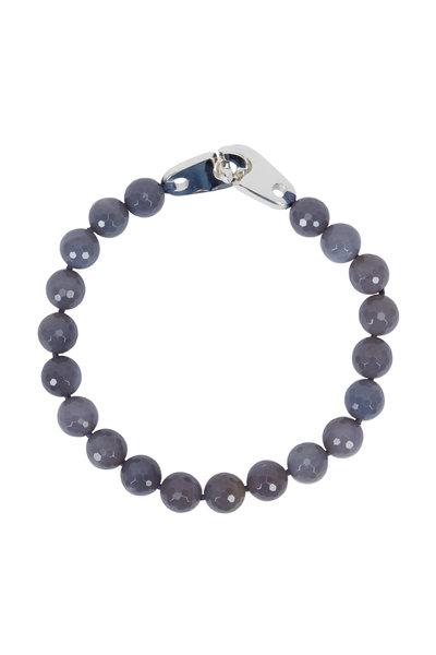 Patricia von Musulin - Silver Clasp Gray Agate Gemstone Necklace