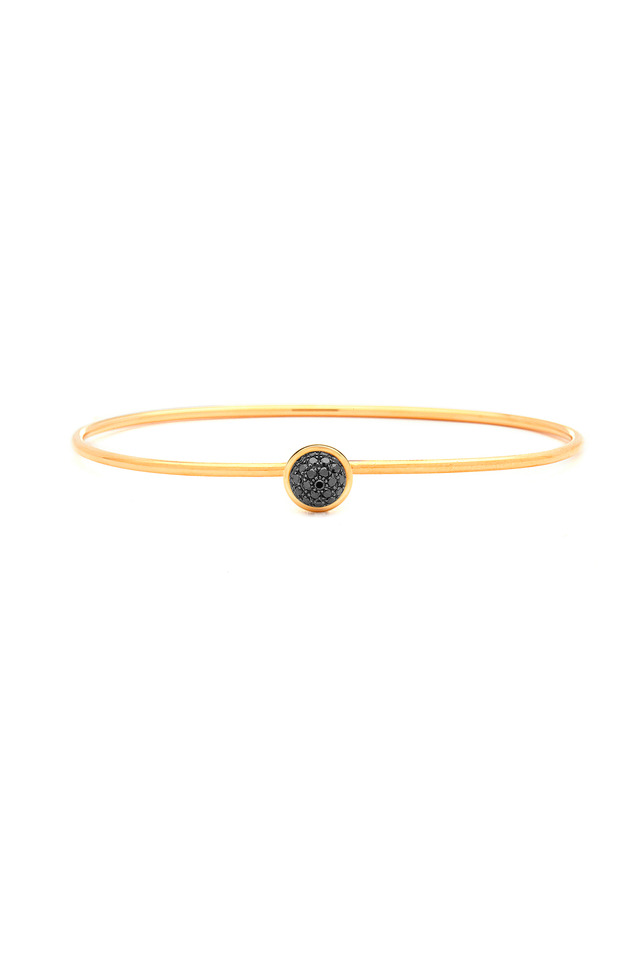 Baubles Yellow Gold Black Diamond Stack Bracelet