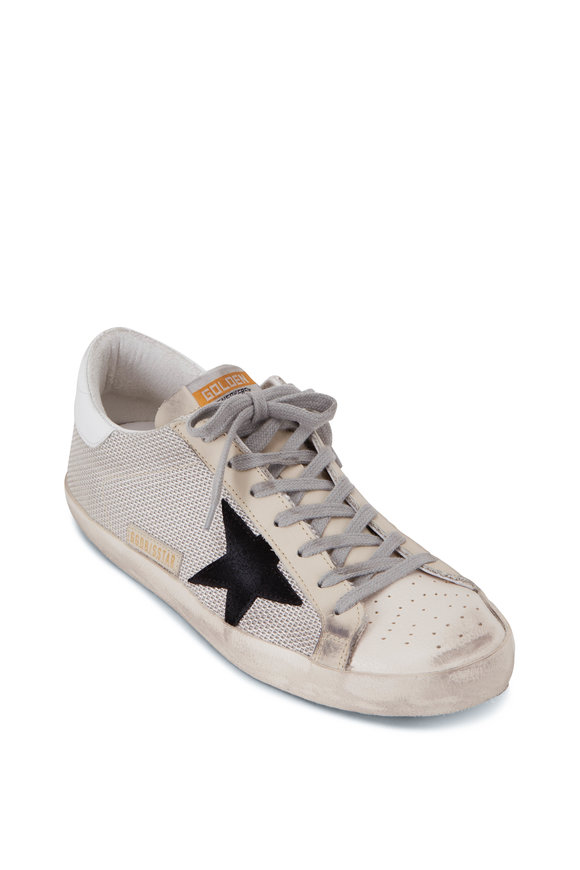 Golden Goose Superstar Silver & Black Star Sneaker