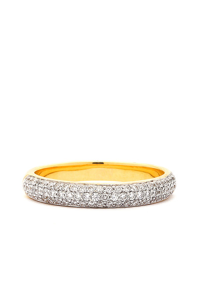 Syna - Diamond Stacking Gold Band