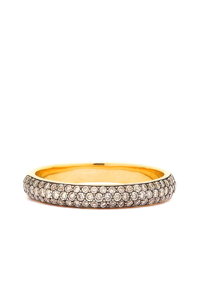 Yellow Gold Champagne Diamond Band