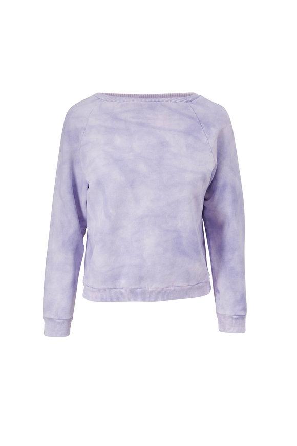 Nili Lotan Classic Lavender Tie Dye Crewneck Sweatshirt